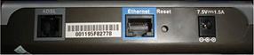 Traseira do modem D-Link 500B