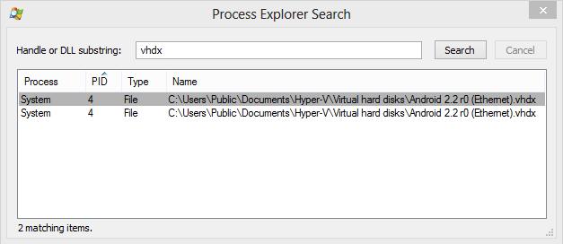 Process Explorer - Procurando por processos que estão usando determinados arquivos