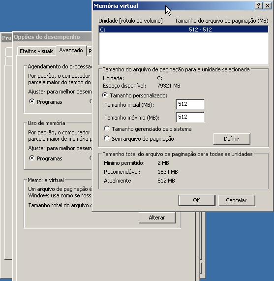 Memória Virtual no Windows XP