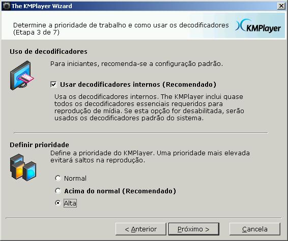Aumentando a Prioridade do KMPlayer