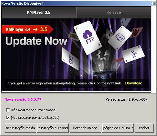 Desabilitando as atualizações automáticas do KMPlayer