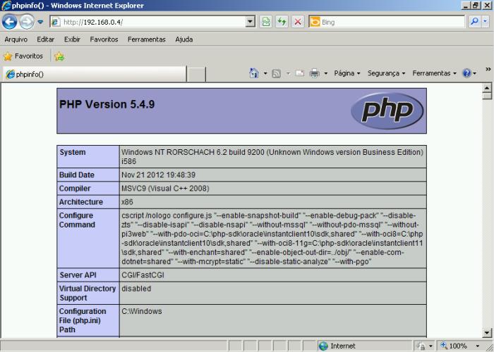Acessando servidor Web (IIS) nos computadores locais virtualizados no Hyper-V