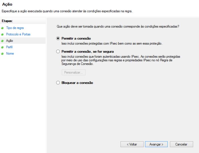 Permitir acesso ao servidor Web (IIS)